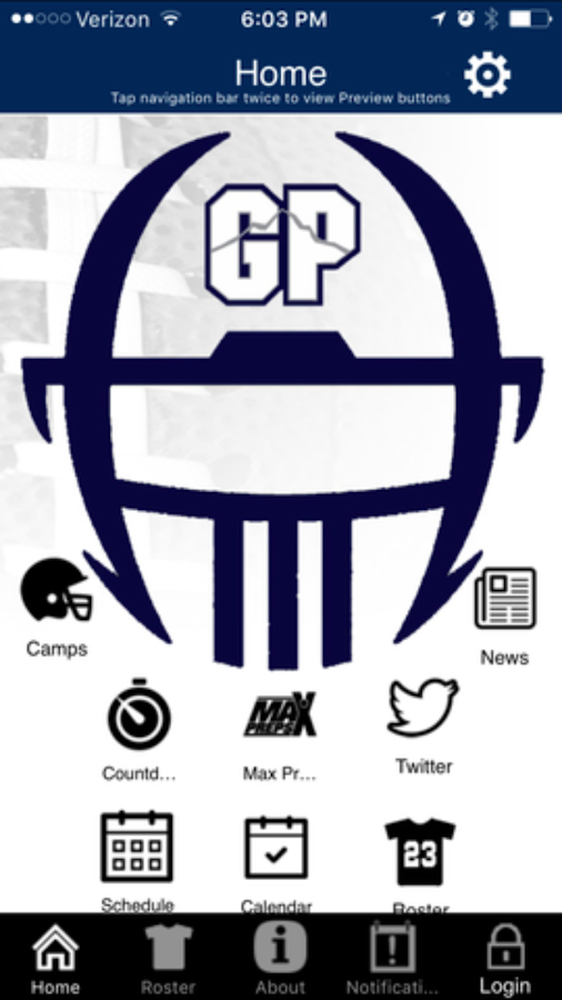 Glacier Peak Football app- screenshot