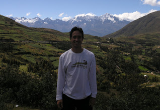 Photo: Me, with the Cordillera Vilcambamba in the background.