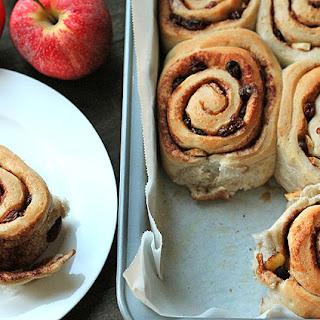 Apple Raisin Cinnamon Rolls.