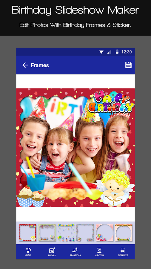 Birthday Slideshow Maker- screenshot