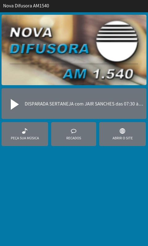 Rádio Nova Difusora AM1540- screenshot