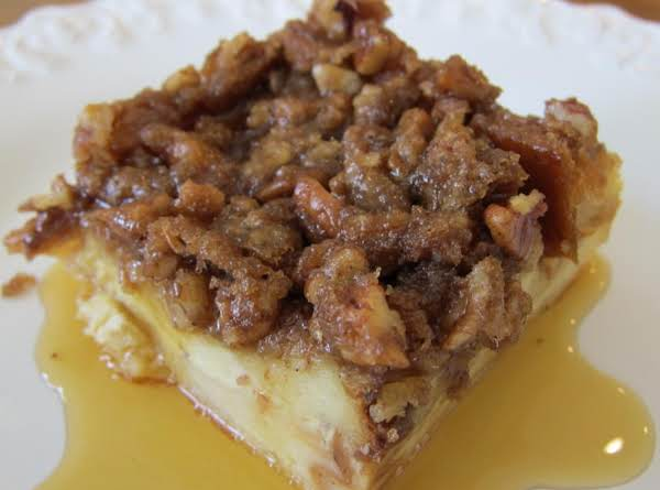 Baked Praline French Toast Casserole With Maple Syrup
