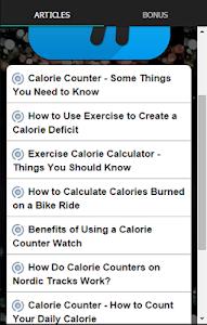 Exercise Calorie Counter screenshot 2