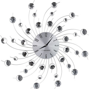 Ceas de perete Esperanza Geneva EHC004, 50 cm, Argintiu