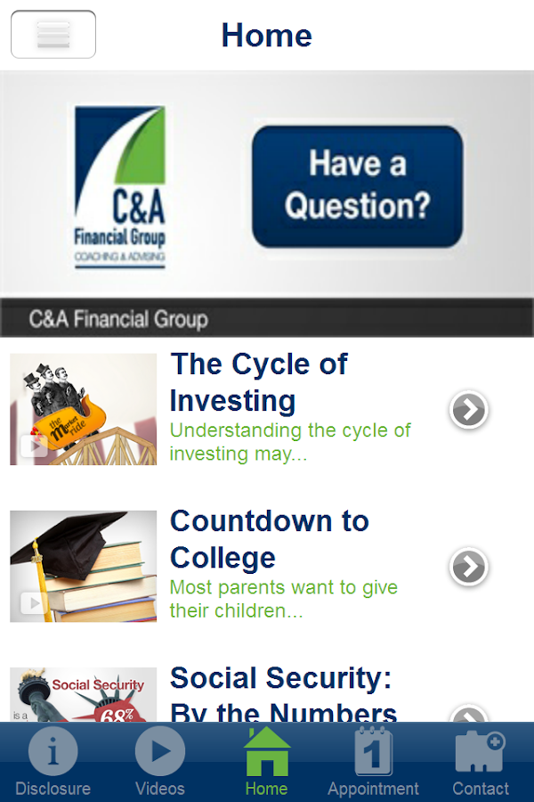 C&A Financial Group- screenshot