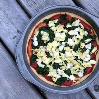 Kale and Artichoke Pizza