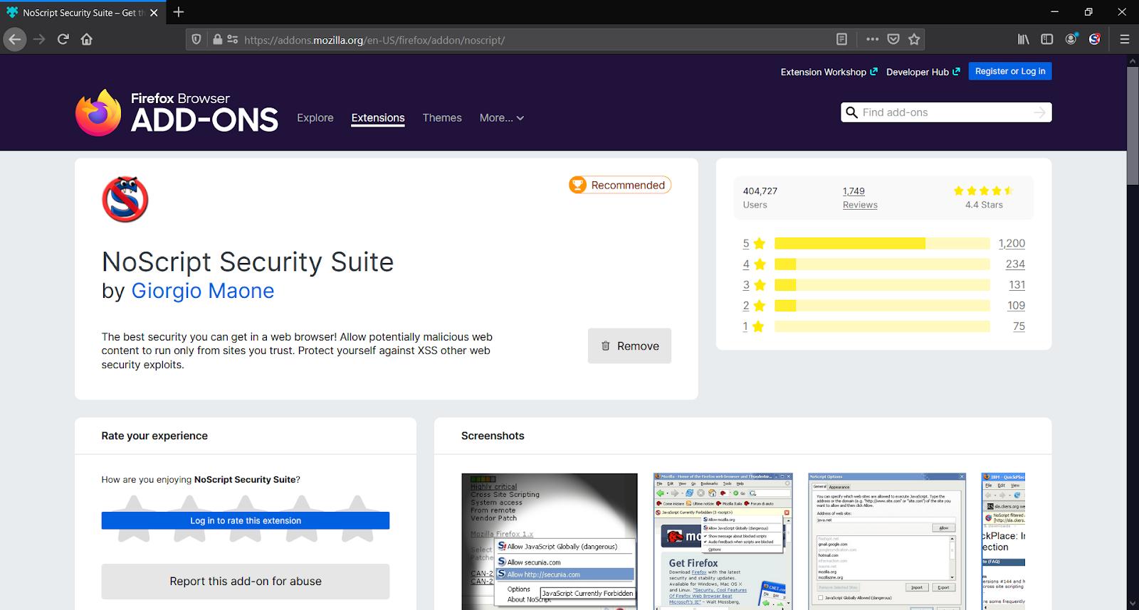 Noscript Addons - Best Free Ad Blocker Software