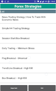 Forex Strategies - Scalping | Intraday | Long Term Screenshot