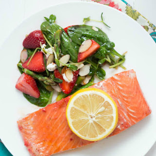 Baked Strawberry Lemon Salmon