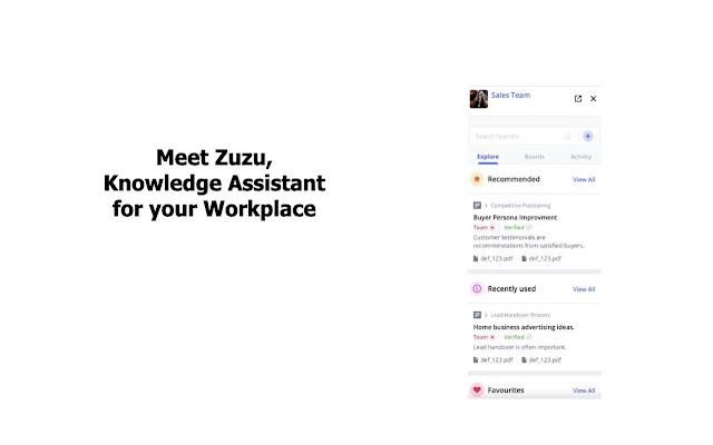 Zuzu AI Knowledge Assistant for Chrome