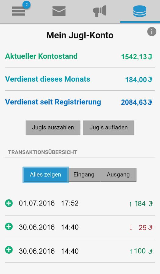 Jugl App – Screenshot