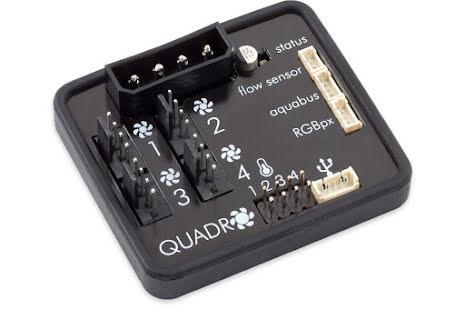 AquaComputer QUADRO, 4 kanals vifte-, pumpe- og LED PWM styring