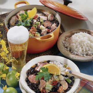 Feijoada Pork and Black Beans Stew.