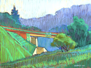 Photo: Overpass, pastel by Nancy Roberts, copyright 2014. Private collection.