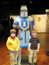 Photo: Neill and Ian at the LEGO exhibit at Henry Ford