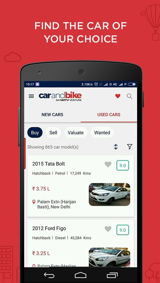 CarAndBike- screenshot