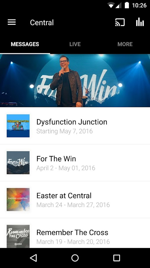 Central Church App- screenshot