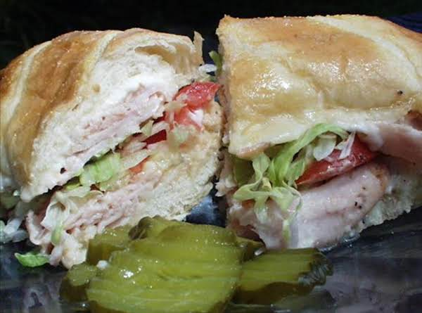 Romano's Style Swiss And Mozzarella Ham Hoagies Recipe