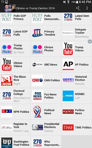 玩免費新聞APP 下載Clinton vs Trump Election 2016 app不用錢 硬是要APP