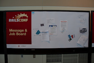 Photo: Message & Job board. People were adding stuff throughout the day.