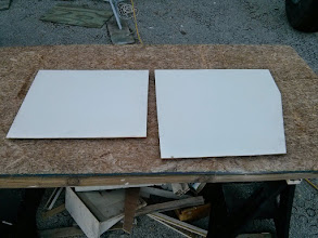 Photo: Formica covered plywood panels for mounting electrical system