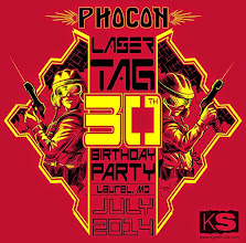 Photo: Commissioned Tshirt design for a 30th Anniversary Laser Tag celebration.