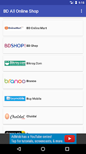 BD Online Shopping site - náhled