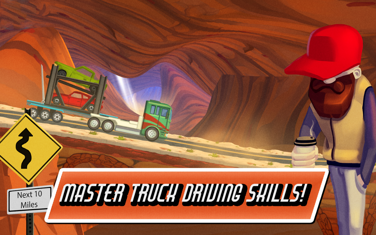 Truck Driving Race US Route 66- screenshot