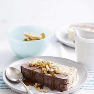Peanut Brittle and Chocolate Frozen Dessert