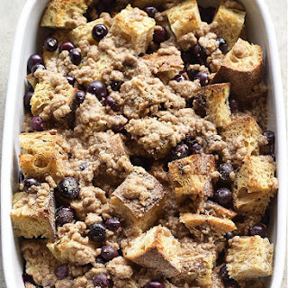 Baked Blueberry French Toast.
