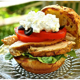 Spicy Smoked Chicken & Cheesy Tzatziki Sandwich Recipe