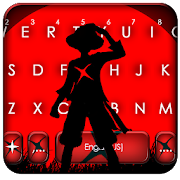Red Moon Anime Keyboard Theme