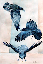 "Photo: As the Crow Flies. watercolor. 18""x24"""