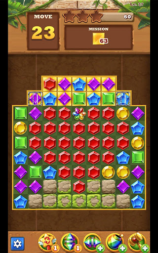Jungle Gem Blast: Match 3 Jewel Crush Puzzles 4.2.5 screenshots 9