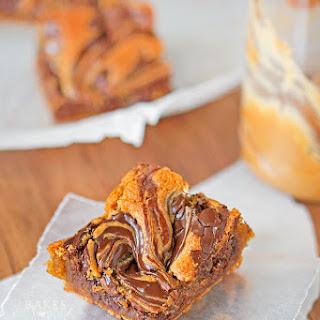 Chocolate Swirl Peanut Butter Bars
