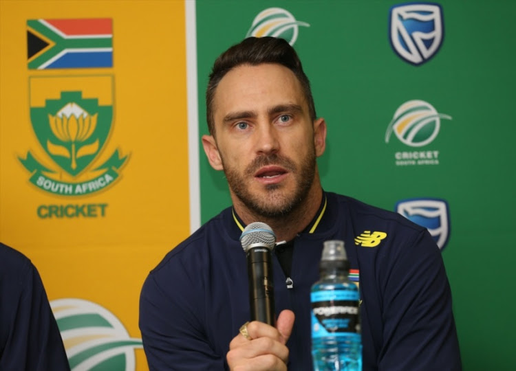 Faf du Plessis during the South African Mens national cricket team arrival at Cape Town Airport in August 2017.