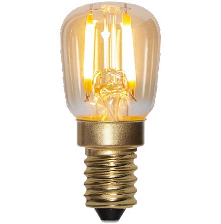 LED lampa E14 Päron Amber 2000K