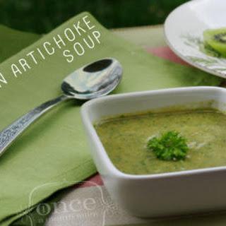Paleo Chicken Artichoke Soup with Basil