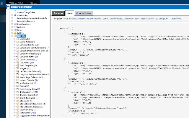 SP Insider - Chrome Web Store