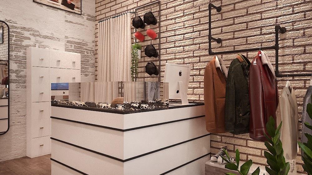 Thiết kế cửa hàng thời trang nam phong cách