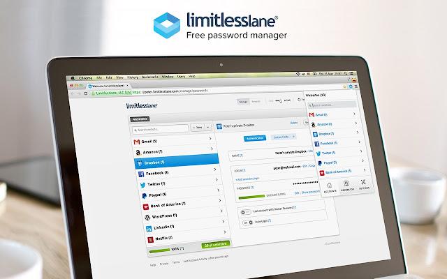 Limitlesslane - Free Password Manager