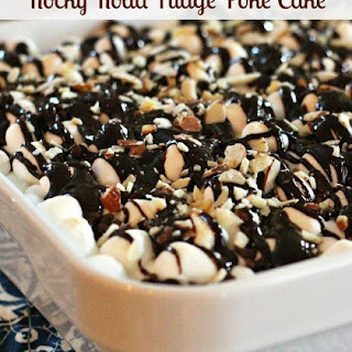 Rocky Road Fudge Poke Cake