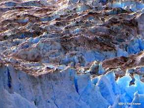 Photo: While it does look dirty, it really is the earth that has been picked up by the glacier and moved.