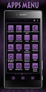 Wooden Icons Violet XZ Theme - náhled