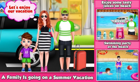 Summer Vacation Planning - Family Trip Game Screenshot