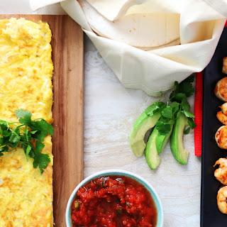 Shrimp Breakfast Burrito.