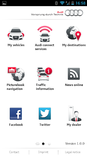 myAudi mobile screenshot 1