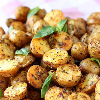 Toasty Roasted Baby Potatoes.