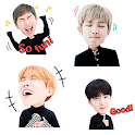 Create BTS pattern wallpaper with BTS sticker icon