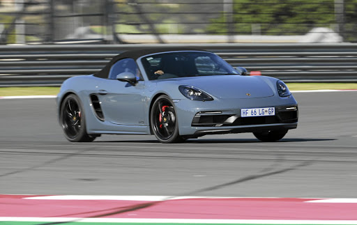 The Boxster GTS proved good on track but the Cayman is the better circuit choice. Picture: LERATO MATEBESE